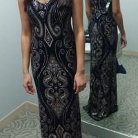 Dress: gold, dillard s, online, black dress, prom dress ...