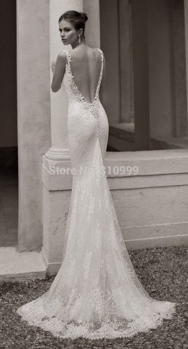 backless wedding dresses Aliexpress com Buy Fashion Sexy Mermaid Backless Wedding Dress Gowns Sweetheart Elastic Material Long Bridal Gowns Lace Train Custom from Reliable