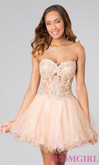 Strapless Babydoll Prom Dress