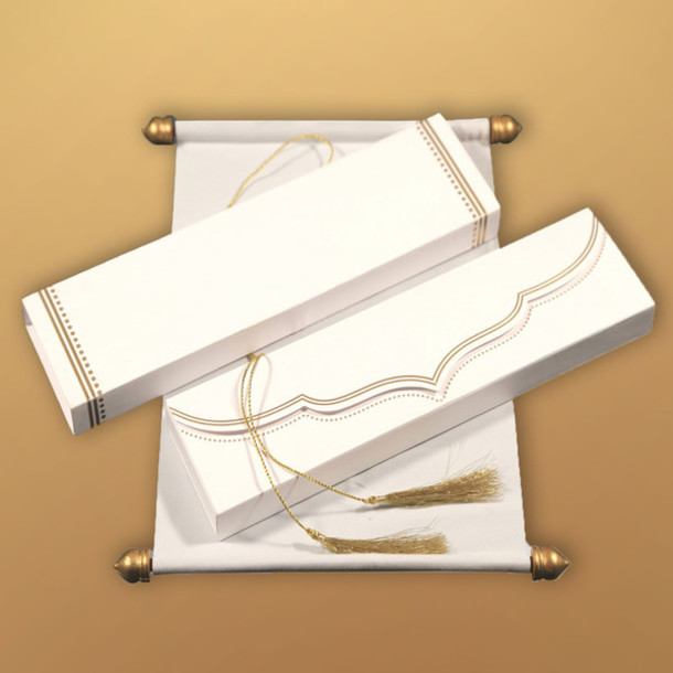 home accessory, scroll wedding invitation cards, scroll invitations