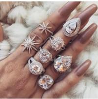 Nail accessories: diamonds, ring, heart diamond rings ...