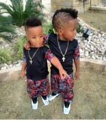 Cute Black Twin Baby Boys With Swag