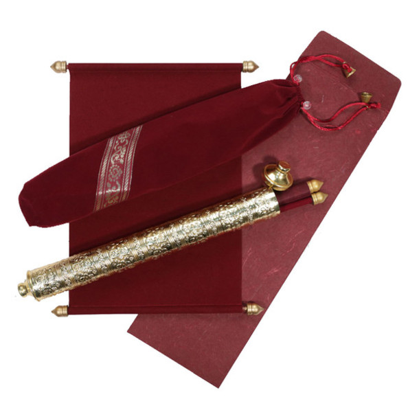home accessory, scroll wedding invitation cards, scroll invitations