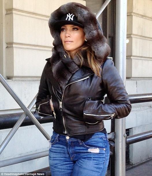 Ny Yankees Girls Wallpaper Jacket Jennifer Lopez Jenniferlopez Fur Fur Jacket