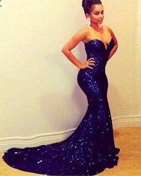 Aliexpress.com : Buy 2016 Brilliant Dark Blue Sequin Off ...