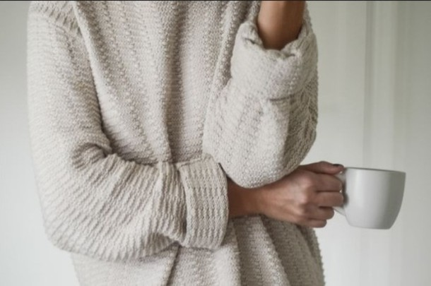 Sweater Cozy Oversized Sweater Tumblr White Comfy