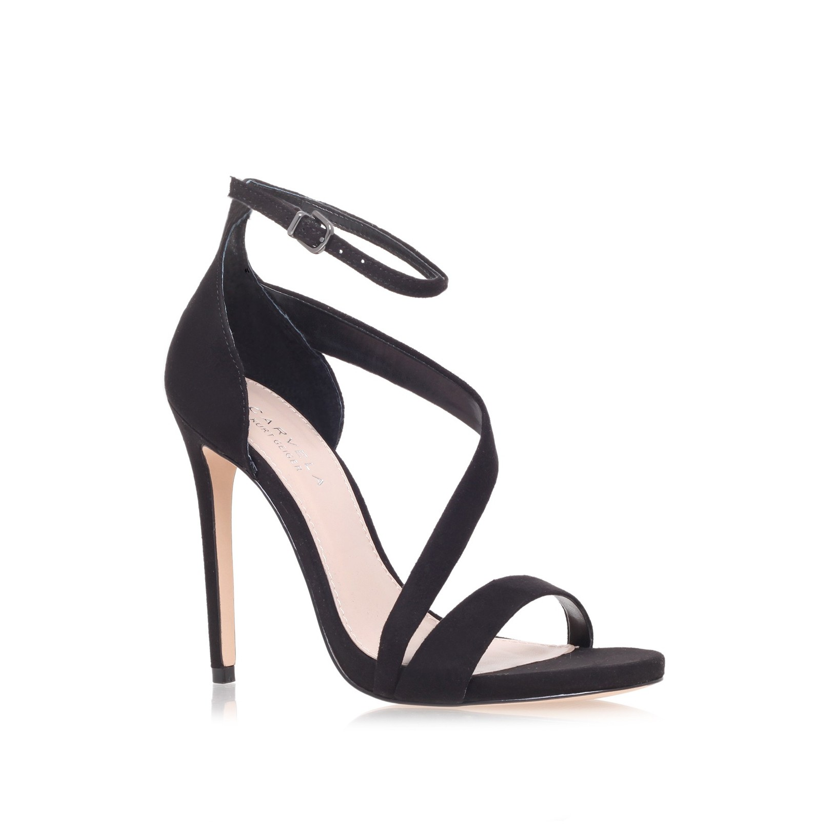 Gosh black mid heel sandals by carvela kurt geiger kurt geiger