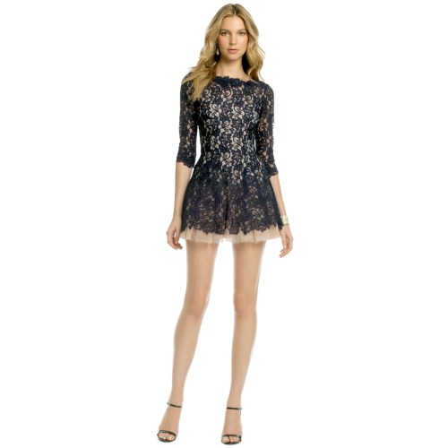 Medium Crop Of Navy Blue Lace Dress