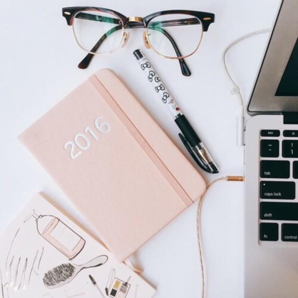 back to school, glasses, book, pink, agenda, nerd, back to school - school agenda