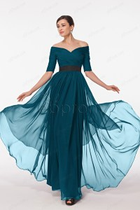 Modest Petrol Blue Formal Dress Plus Size Evening Dresses ...