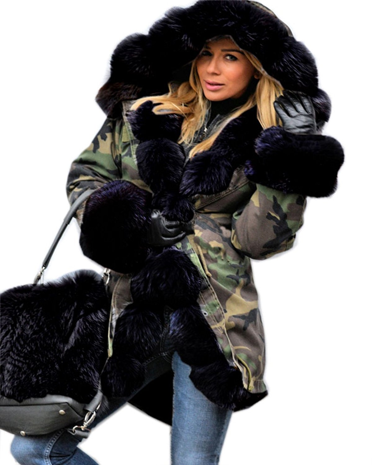 Fur Womens Fanala Women Thicken Faux Fur Jacket Hooded Parka Coat At Amazon Women S Coats Shop