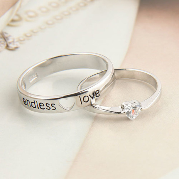 Cute Marriage Couple Wallpaper Jewels Engagement Ring Cute Silver Ring Silver