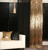 Dress: curtain, sparkle, gold sequins, black sequins, home ...