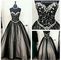 dress, grey, black, white, prom, princess, ball gown dress ...