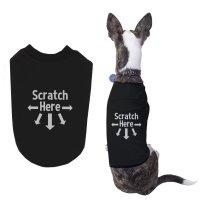 Amazon.com : Scratch Here Dog Shirts Cute Black Pet T ...