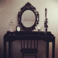 Home accessory: goth, black, vanity mirror, home decor ...