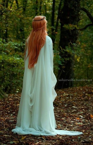Tank Girl Phone Wallpaper Dress Long Dress White Elvish Fantasy Medieval Witch