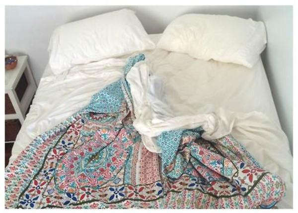 Bedding Cover Hippie Love Pattern Design Tribal
