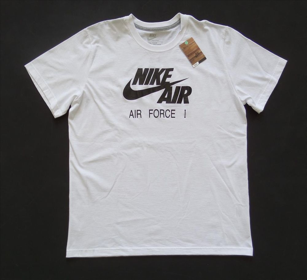 New nike sportswear white slim fit w nike air air force 1 logo t shirt sz 2xl ebay