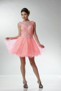 Prom Dresses | PLY6892COR CORAL Strapped Cap Sleeve ...