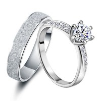 Engravable 0.6 Carat Diamond His and Hers Anniversary ...