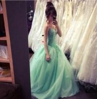 Dress: blue dress, prom dress, sparkly dress, poofy dress ...