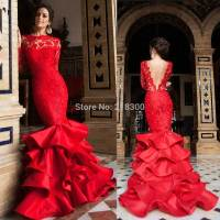 Aliexpress.com : Buy Red lace mermaid backless prom ...