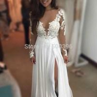 Aliexpress.com : Buy Sexy White Chiffon Lace Appliques ...