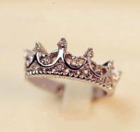 Jewels: tiara ring, ring, silver, diamonds, princess ...