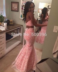 Aliexpress.com : Buy Two Pieces Lovely Mermaid Prom ...