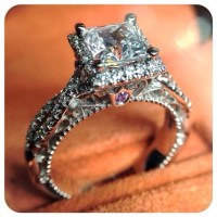 Jewels: crown ring, engagement ring, princess, silver ring ...