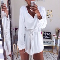 Dress: romper, white dress, beach, summer dress, white top ...