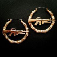 MK16 Gun Bamboo Earrings -  Dollface London Online ...