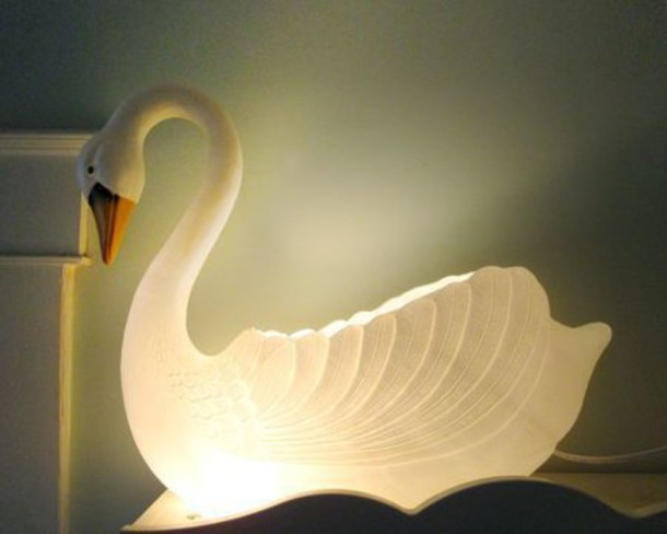 Home Accessory Lamp Swan Kids Room Wheretoget
