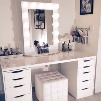 Makeup Vanity Table Set With Mirror And Lights - Makeup ...