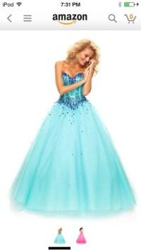 Blue Poofy Prom Dresses