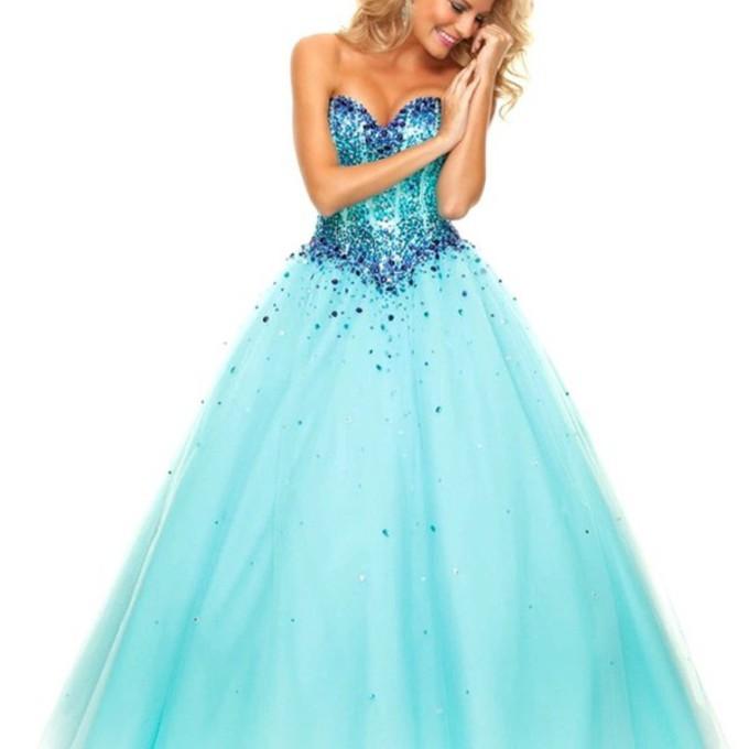 Poofy Blue Prom Dresses