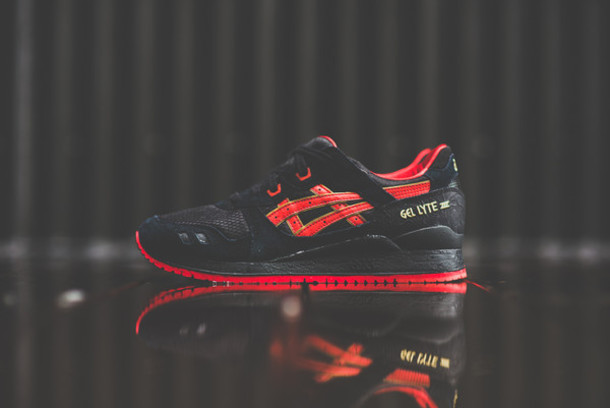 Shoes Asics Gel Lyte Iii Asics Women39s Shoe Red Black