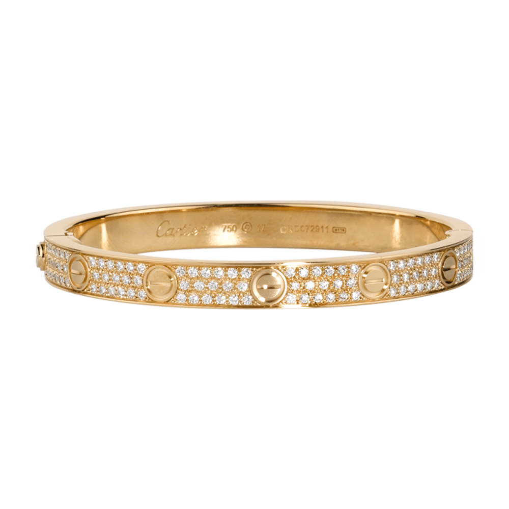 Love Bracelet Yellow Gold Diamonds Fine Bracelets For