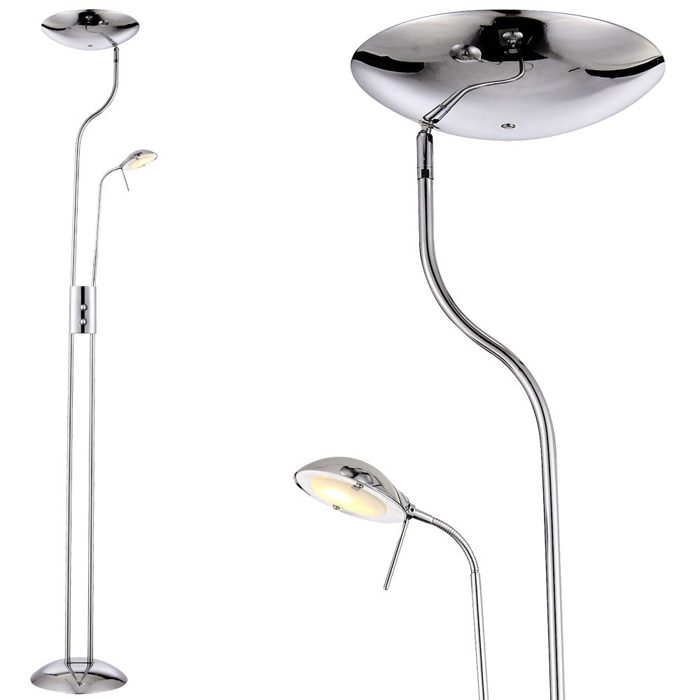 Leselampe Stehlampe Led Deckenfluter Chrom Standleuchte Wohnzimmer Leselampe Stehlampe Lampe Globo 59939