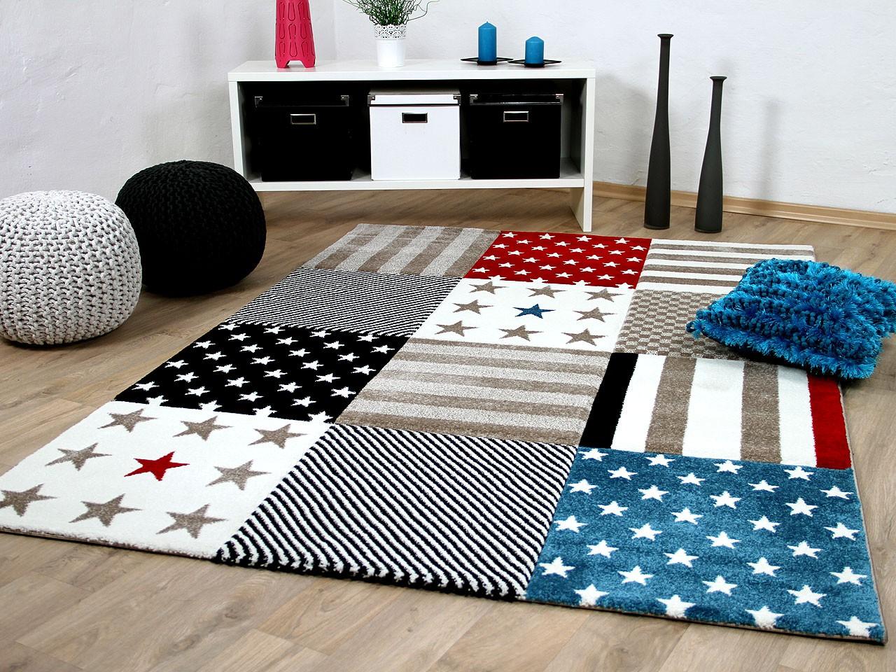 Teppich Kinderzimmer Streifen   Teppich Kinderzimmer Pflegeleicht ...
