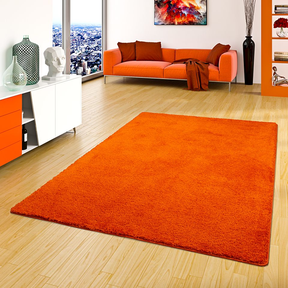 Hochflor Shaggy Teppich Palace Creme Hochflor Shaggy Teppich Palace Orange In 24 Größen