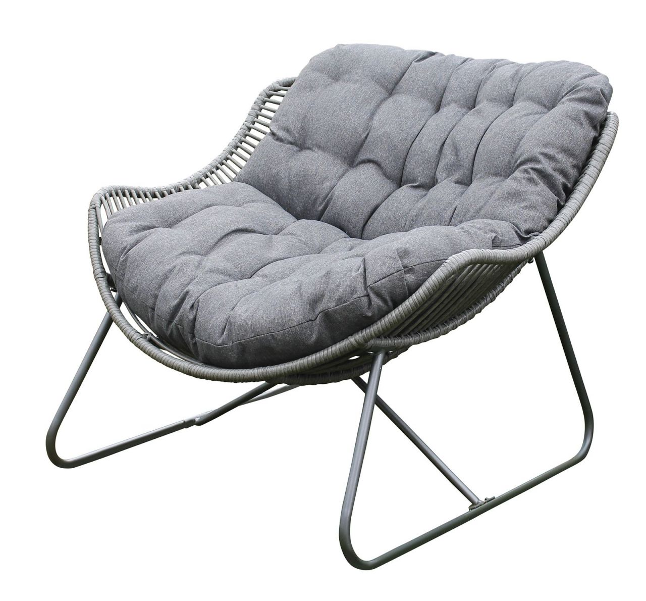 Lounge Sessel Indoor Lounge Sessel Inkl Xl Kissen Anthrazit Gartensessel B 96 Cm Indoor Outdoor Lc Modena 1