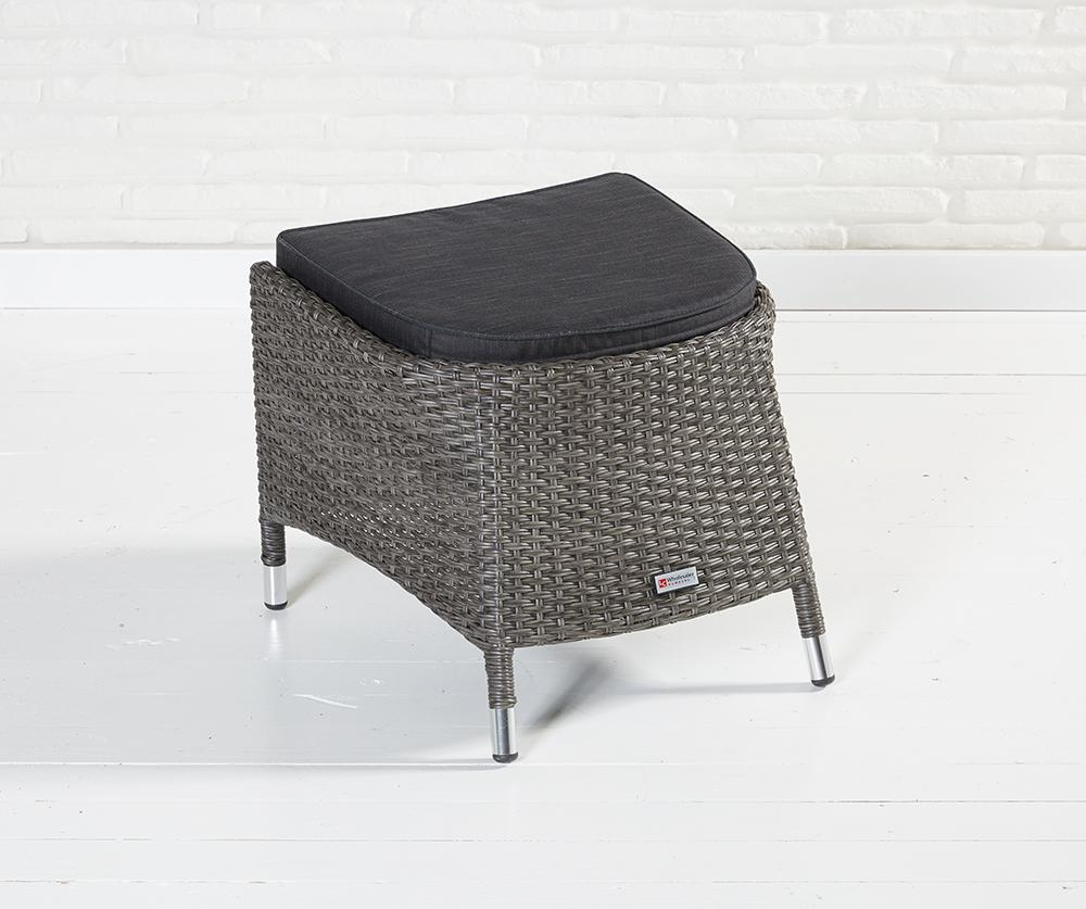 Hocker Grau Barcelona Dining Hocker Grau Mix Fußbank Bank Fußhocker Rattanhocker Polyrattan