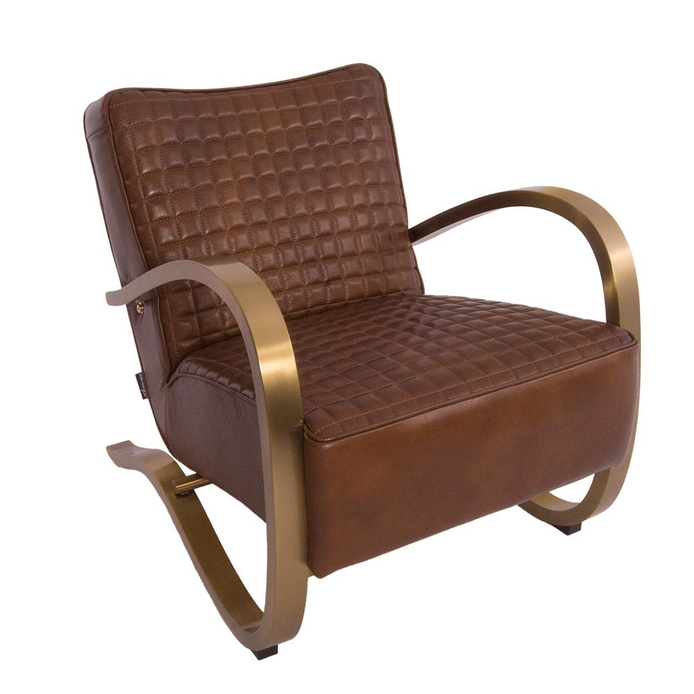 Club Sessel Design Clubsessel Giacomet Whiskey Brown Edelstahl Kupfer Finish Ledersessel Leder Sessel