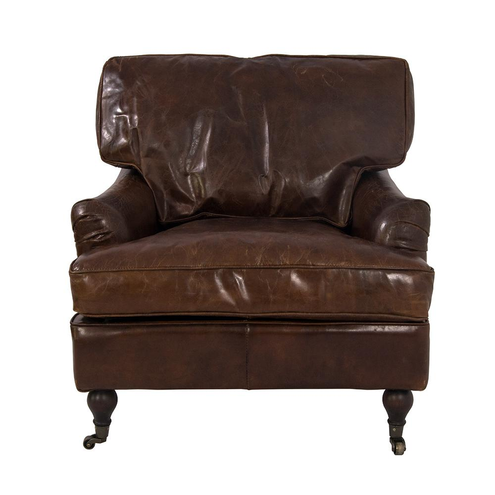 Relaxsessel Vintage Lounge Chris Antik Microvelour Leder