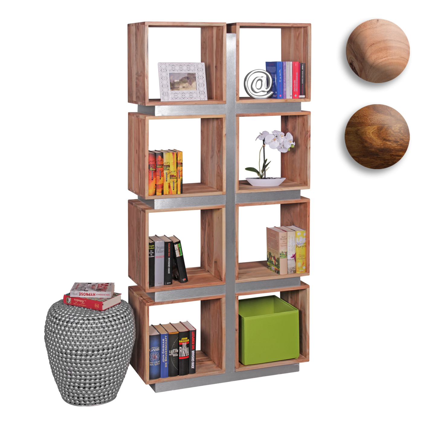 Regal Holz Cm Finebuy Bücherregal Massivholz 180 X 85 X 30 Cm Design Raumteiler Hohes Regal Holz Landhaus Stil Regalsystem