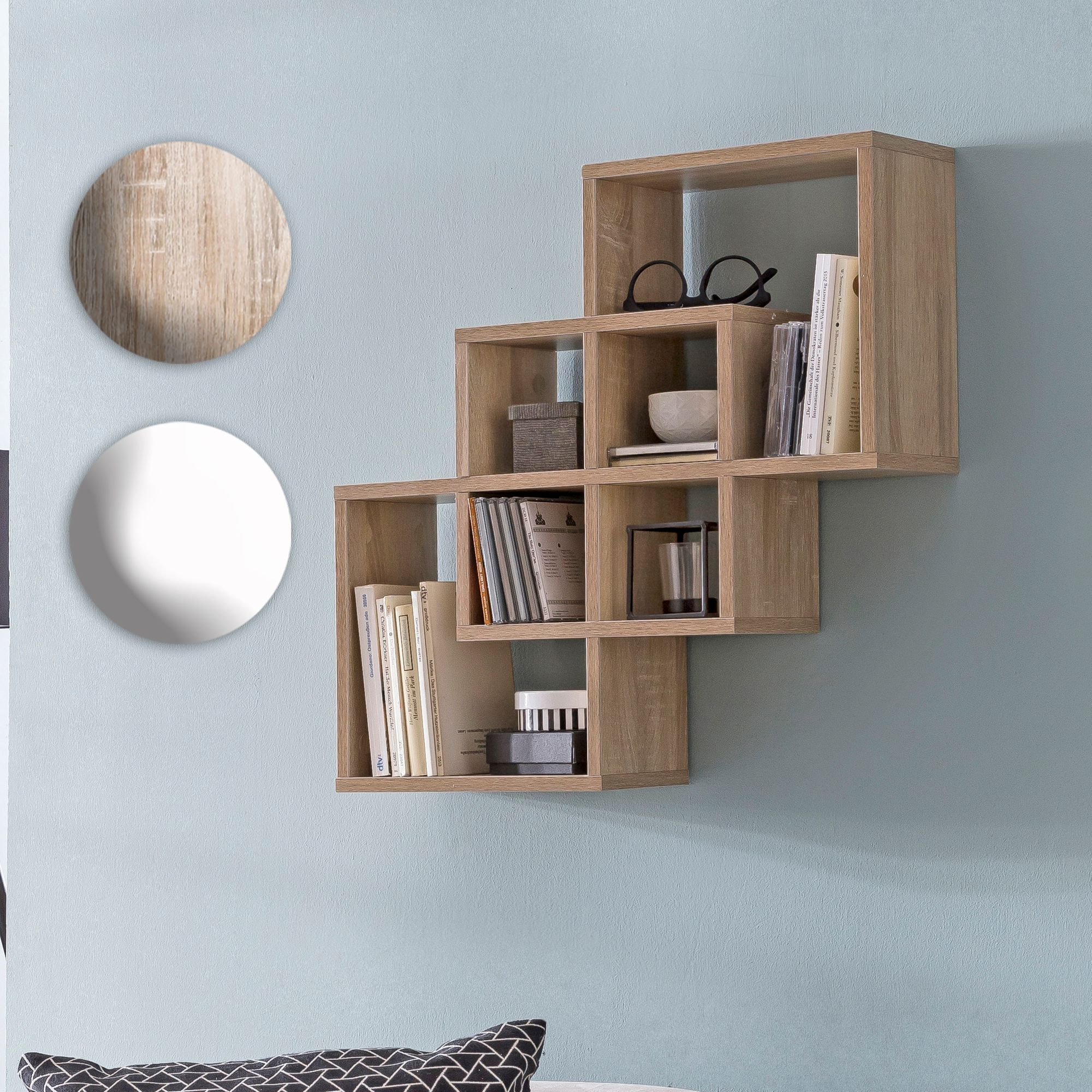 Hängeregal Wandregal Finebuy Wandregal Sv51810 60x60x16 Cm Holz Hängeregal Modern Design Wandboard Freischwebend Holzregal Regal Für Die Wand Bücherregal Schmal