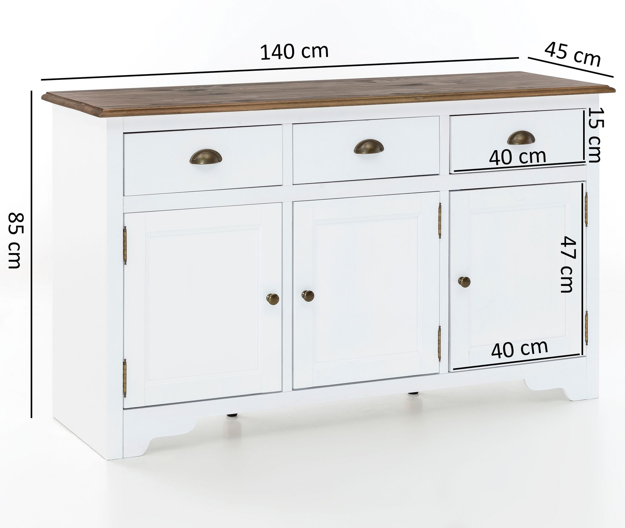 Holz Kommode Flach Highboard Wei Great Great Good Great Sideboard Creme Hochglanz