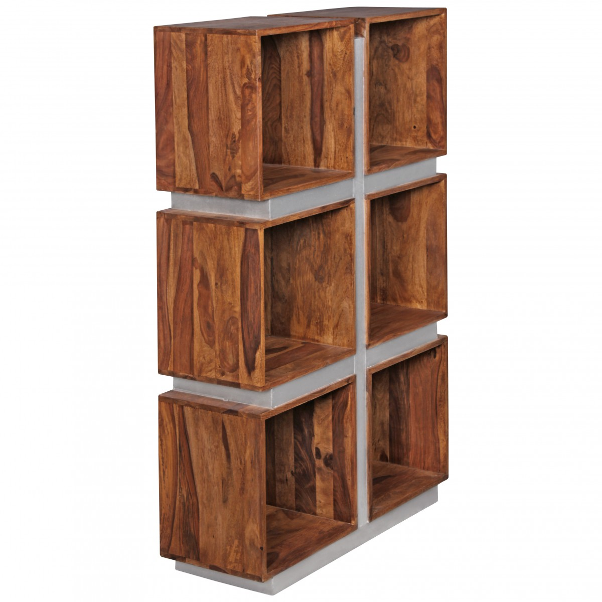 Holz Regalsystem Finebuy Bücherregal Massivholz 135 X 85 X 30 Cm Design
